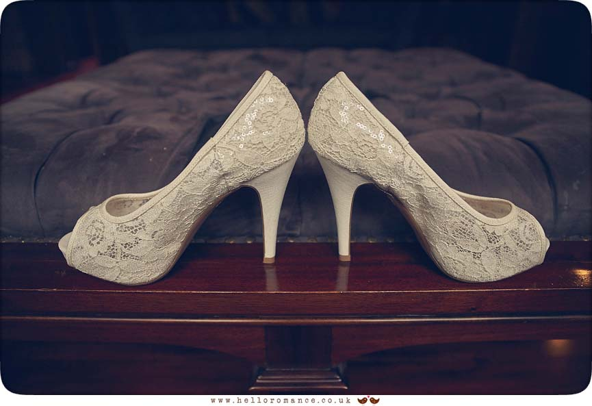 Bride's shoes Woodbridge - www.helloromance.co.uk