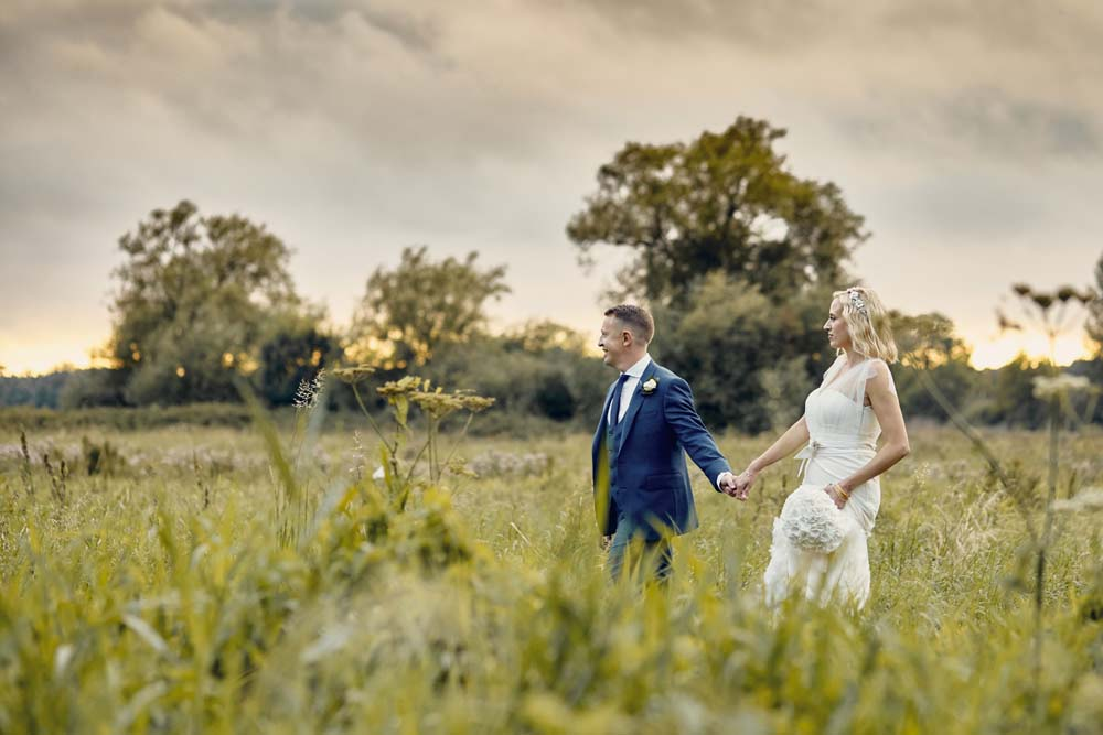 Sunset at Tuddenham Mill wedding venue in Suffolk - www.helloromance.co.uk