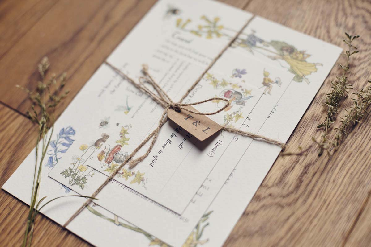 Suffolk Woodland Fairy Wedding Invitation - www.helloromance.co.uk