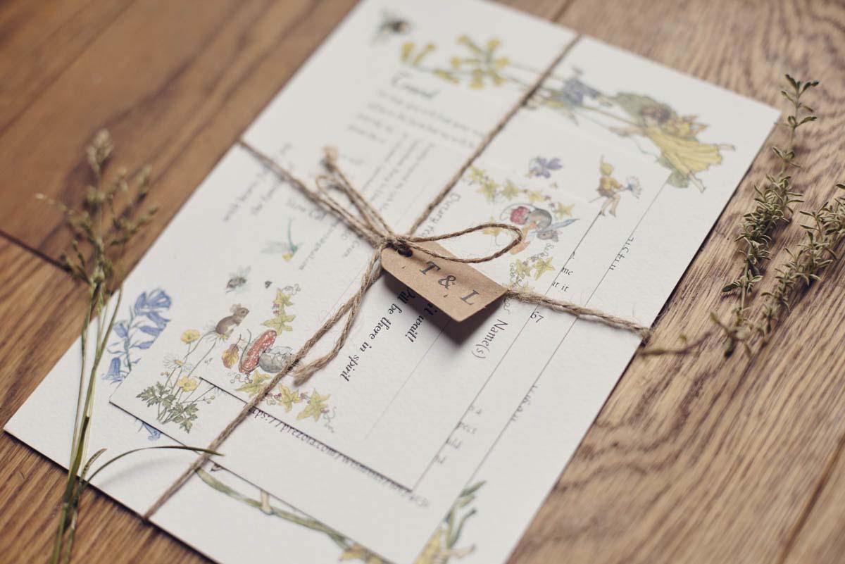 Suffolk Woodland Fairy Wedding Invitation - www.helloromance.co.uk