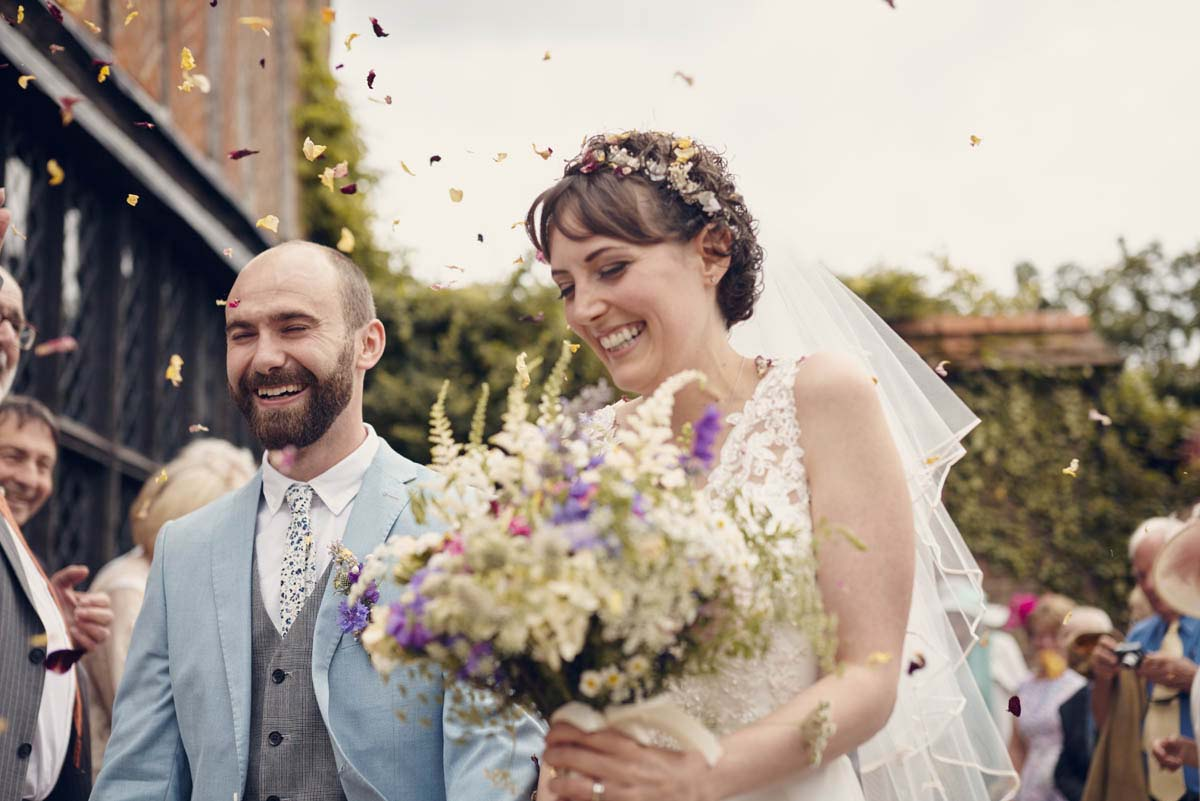 Suffolk Woodland Fairy Wedding Confetti Photos at Otley Hall - www.helloromance.co.uk