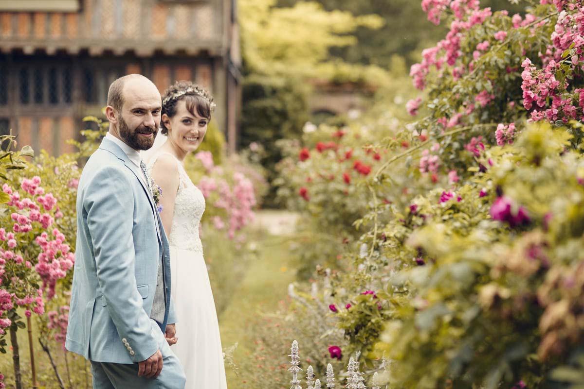 Suffolk Woodland Fairy Wedding - Bride and Groom photoshoot at Otley Hall - www.helloromance.co.uk
