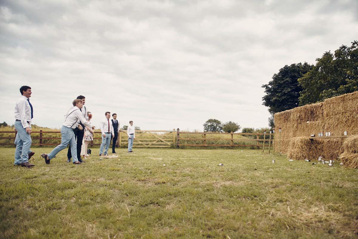 Suffolk Woodland Fairy Wedding Games Coconut Shy - www.helloromance.co.uk