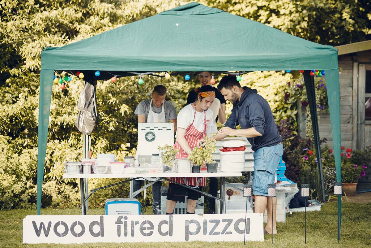 Suffolk Woodland Fairy Wedding Wood Fired Pizza Oven by The Wood Kitchen - www.helloromance.co.uk