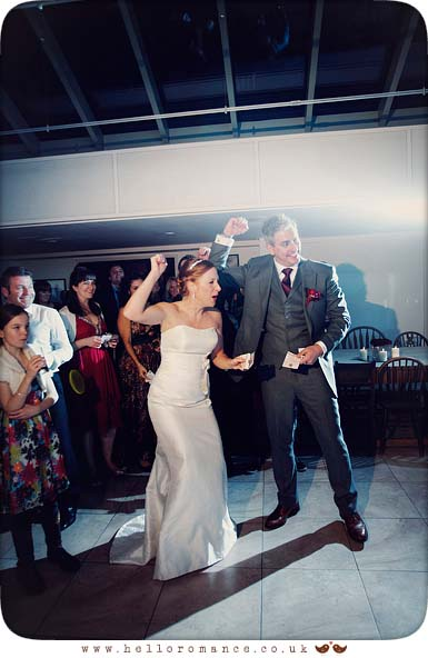 Bride and groom dancing at Westleton Crown Wedding Photography - Kate and Rob - Hello Romance Wedding Photography Suffolk