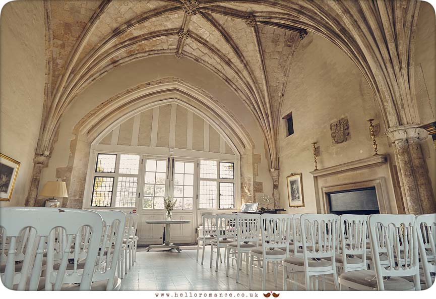 Interior of Butley Priory wedding venue, Suffolk - www.helloromance.co.uk