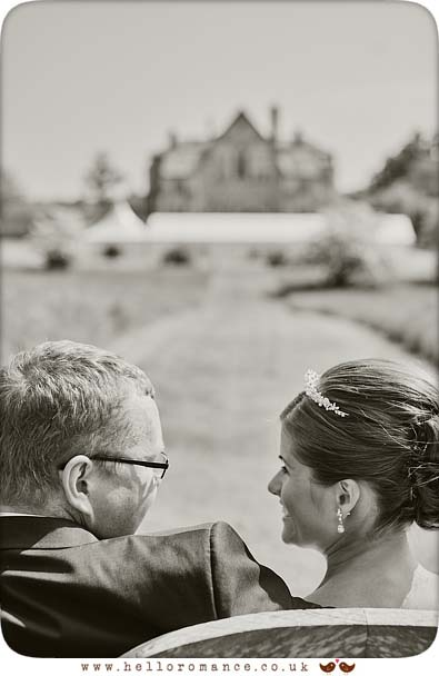 Lovely moment at wedding, Butley Priory, Black and White - www.helloromance.co.uk