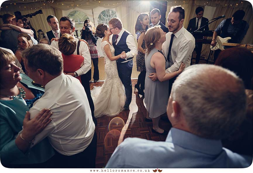 Bride and groom share special moment during first dance in Suffolk - www.helloromance.co.uk