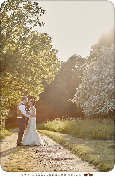 Sunset evening wedding photo, Woodbridge, Suffolk, 2016 - www.helloromance.co.uk