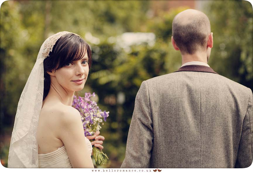 Glance Over Shoulder Wedding