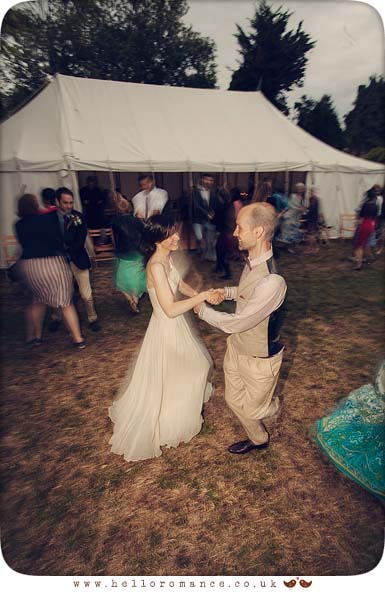 Céilidh dancing at wedding outdoors Suffolk - Hello Romance