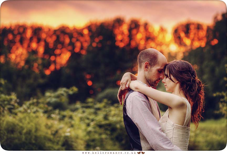 Bride & Groom Sunset