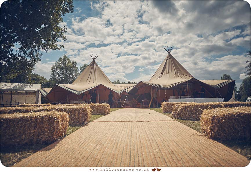 Tipi wedding Essex tents Wild Events Chalkney Water Meadows - www.helloromance.co.uk
