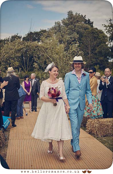 Quirky attire at Wild Events Chalkney Water Meadows wedding Great Tey, Colchester - www.helloromance.co.uk