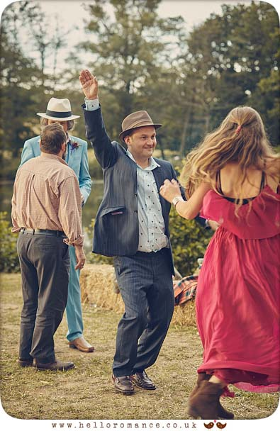 Outdoor dancing at 2015 wedding in Essex - www.helloromance.co.uk