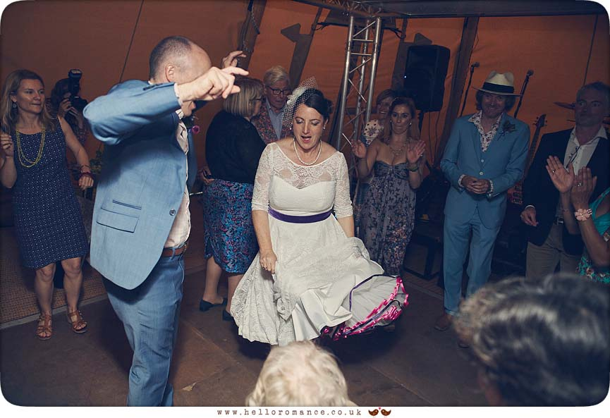 Bride dancing to Cuban band at wedding - www.helloromance.co.uk