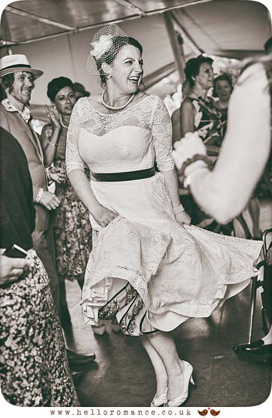 Bride dancing to Cuban band at 2015 Essex wedding - www.helloromance.co.uk