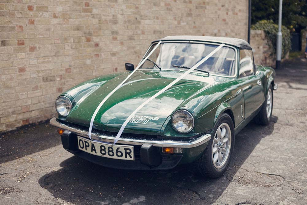 Triumph Spitfire 500 wedding car, Great Wilbrham, Cambridgeshire - www.helloromance.co.uk