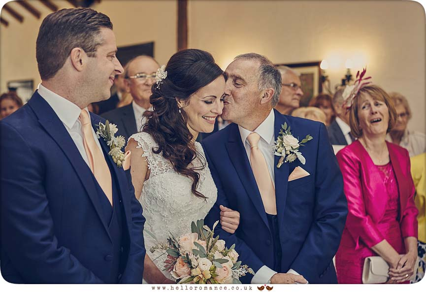 Emotional moment caught at wedding ceremony in Essex - www.helloromance.co.uk