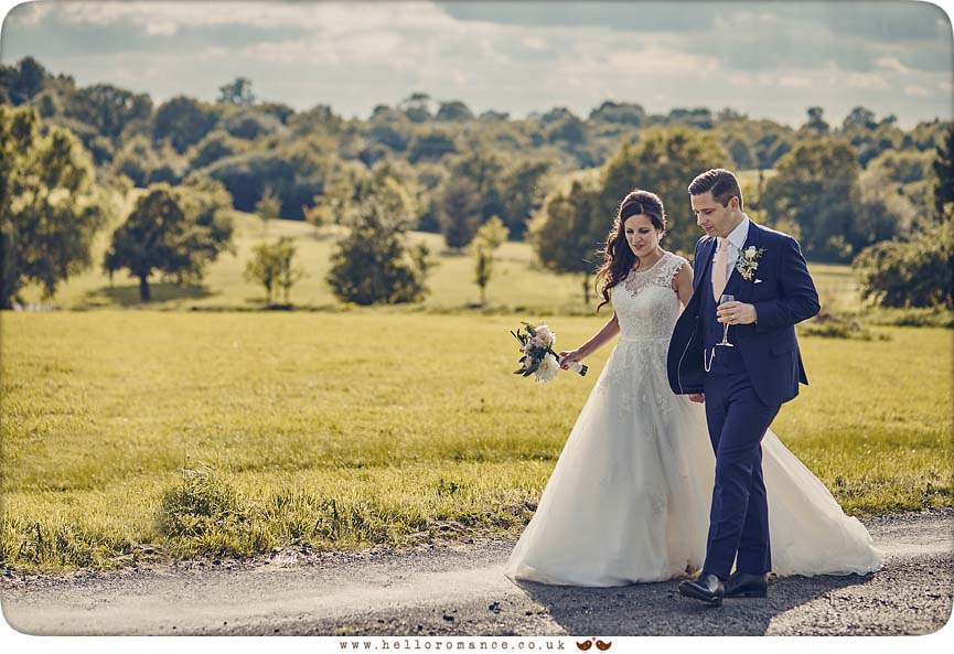 Lovely moment with bride and groom at Crondon Park Essex - www.helloromance.co.uk
