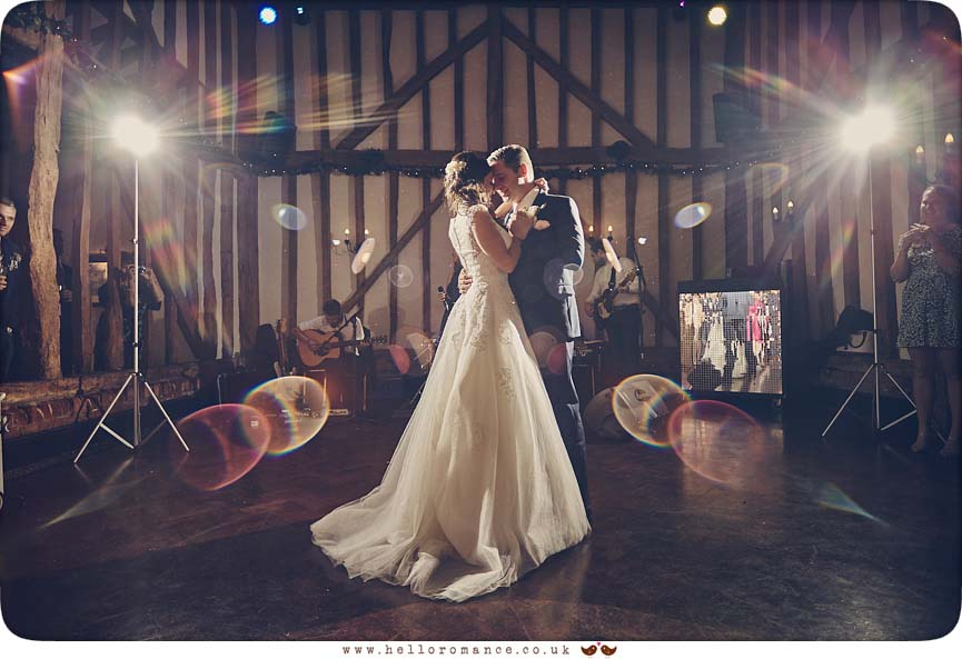 First Dance at Crondon Park wedding venue - www.helloromance.co.uk
