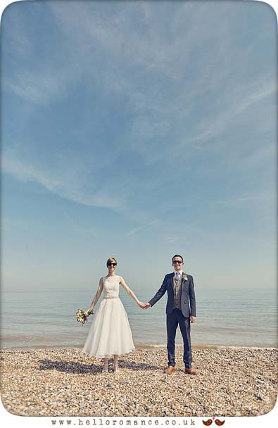 Cute alternative wedding photos from Dunwich, Suffolk - www.helloromance.co.uk