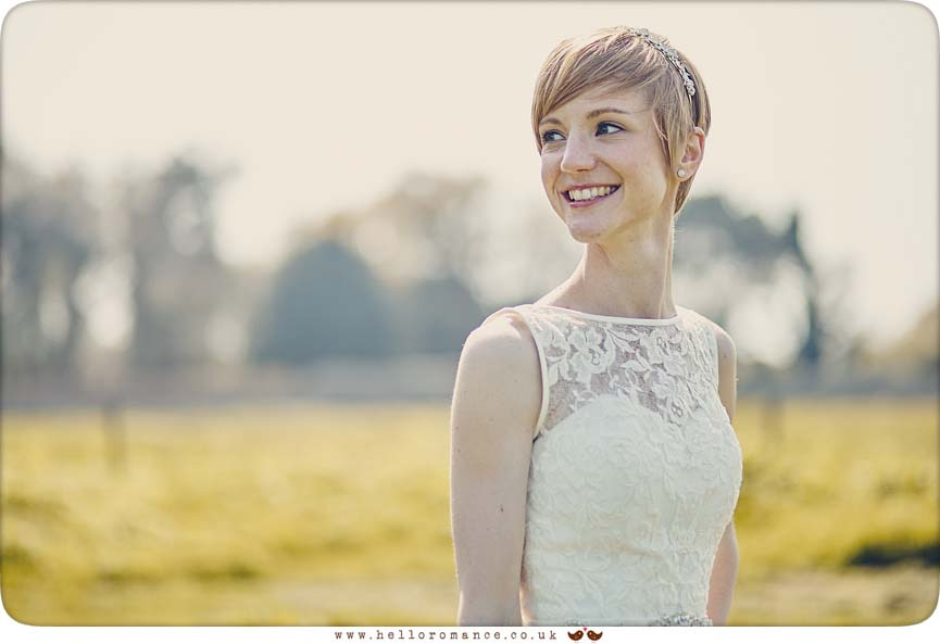 Beautiful bridal portrait, Dunwich, Suffolk - www.helloromance.co.uk
