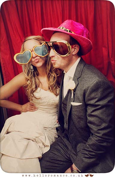 Bride and Groom in Photobooth - Maison Talbooth Dedham Wedding Photography Essex - Sian and James - Hello Romance Wedding Photography