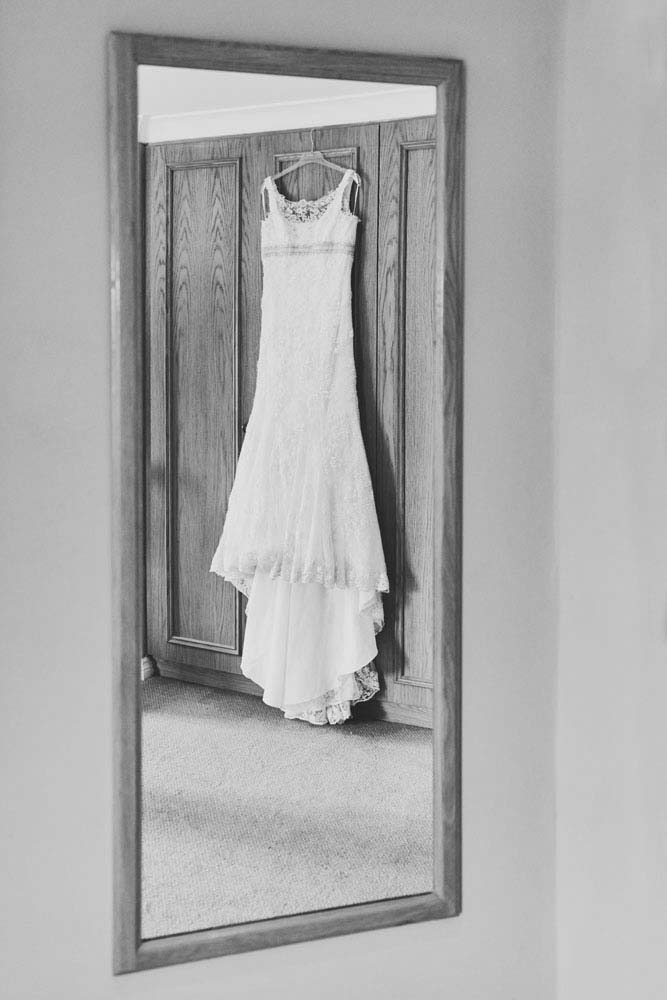 wedding dress hanging at Stoke-by-Nayland Golf Club - www.helloromance.co.uk