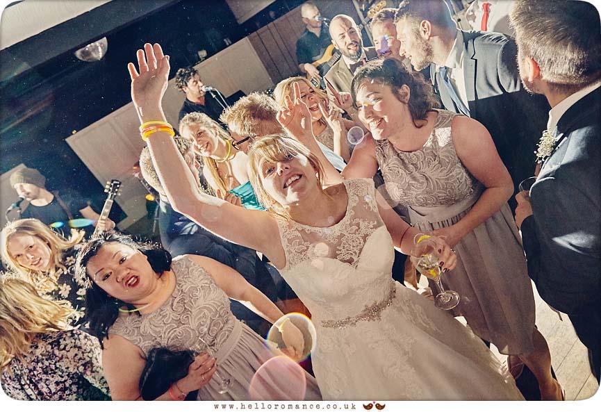 Bride on dancefloor - www.helloromance.co.uk