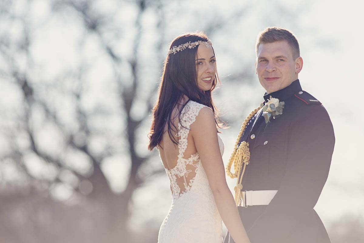 Bride and groom at Hintlesham Hall - www.helloromance.co.uk