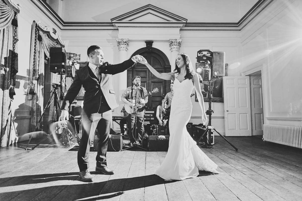 Bride and groom's first Dance at Hintlesham Hall - www.helloromance.co.uk