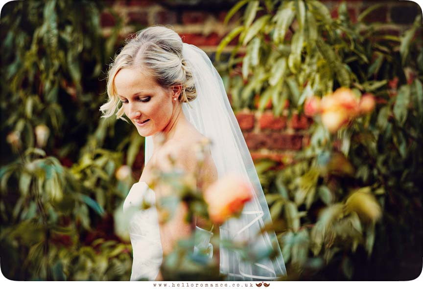 Bride at Haughley Park Barns Suffolk Unique Vintage wedding photography - Hello Romance Wedding Photography