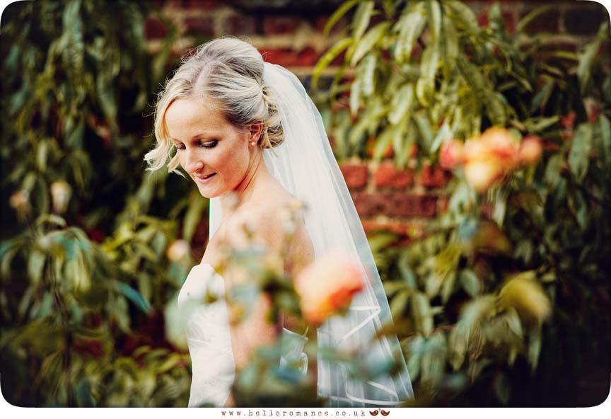Bride at Haughley Park Barns Suffolk Unique Vintage wedding photography - Hello Romance Wedding Photography