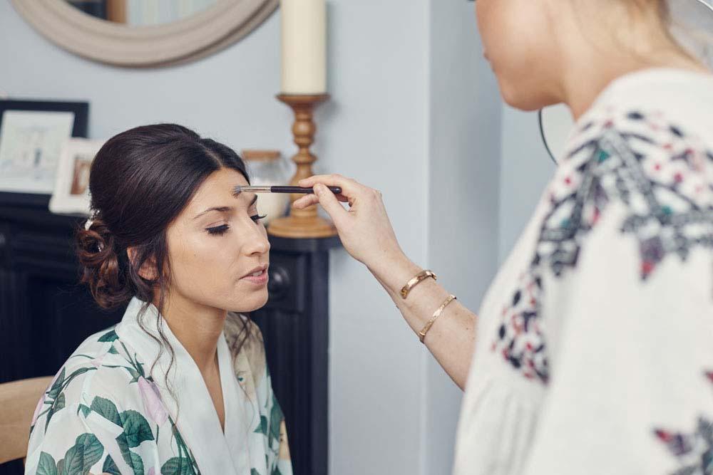 bridal make-up before wedding, Suffolk - www.helloromance.co.uk