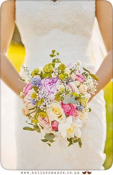 Beautiful bouquet at Suffolk wedding - www.helloromance.co.uk