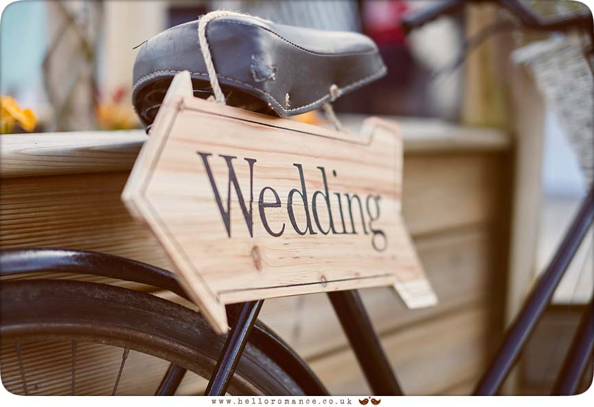 Quirky wedding decorations in Ipswich Greshams wedding - www.helloromance.co.uk
