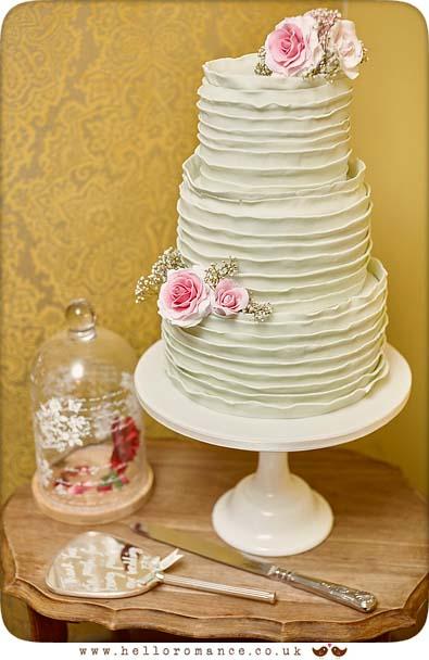 Unique wedding cake photo at Greshams in Ipswich - www.helloromance.co.uk
