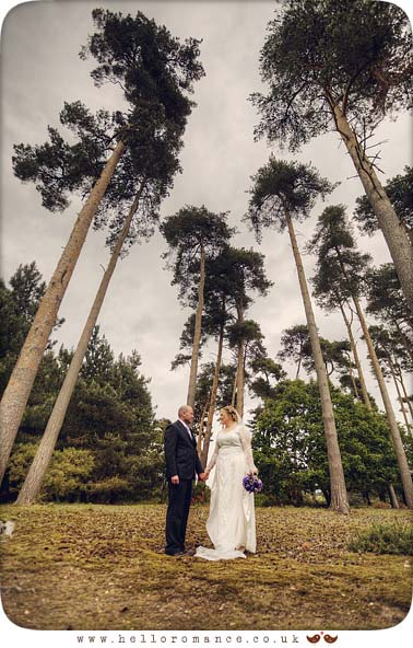 Tall Trees Wedding Couple Suffolk Atmospheric Wedding Photos Bromswell Vintage - Hello Romance