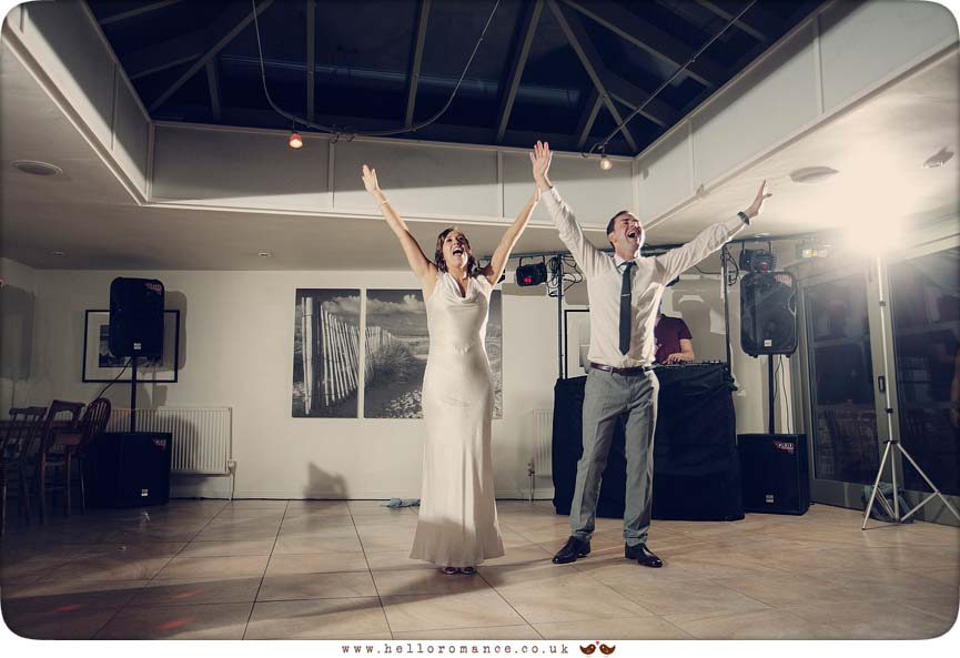Bride and groom dancing to You'll Never Walk Alone - www.helloromance.co.uk