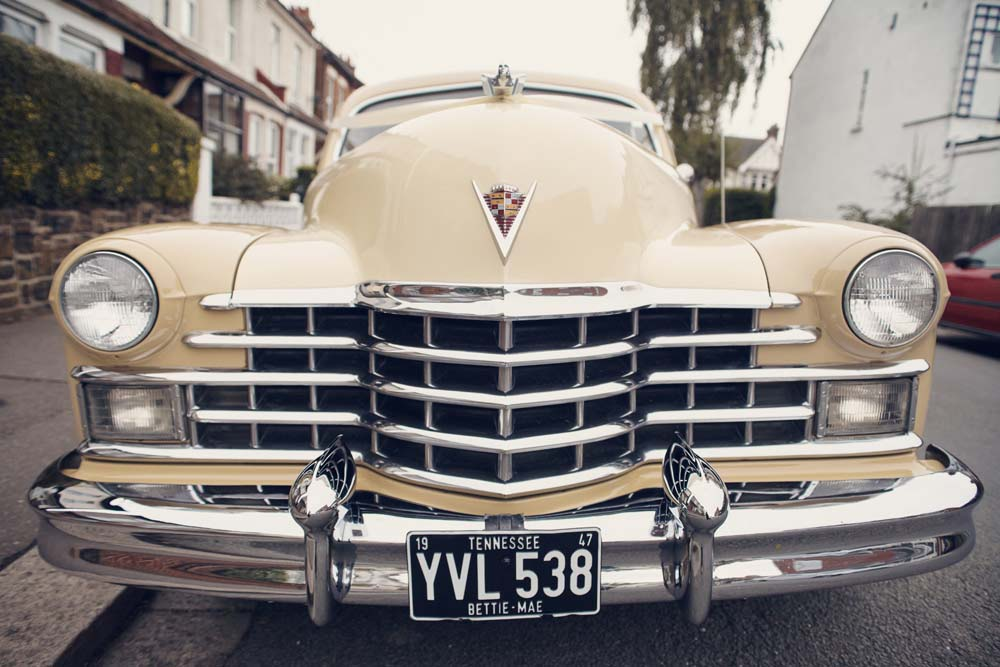 Vintage Cadillac Wedding car - www.helloromance.co.uk
