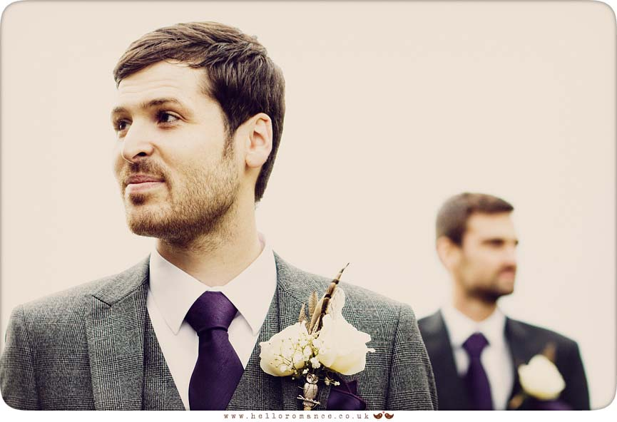 Groom and Best Man Vintage Toning - Hello Romance
