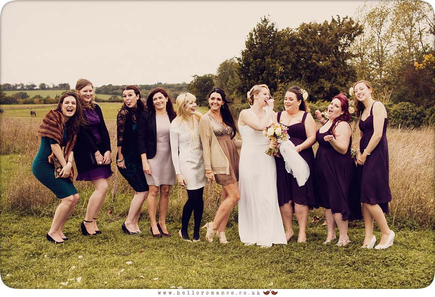 Cute Informal Wedding Group Shot - Hello Romance