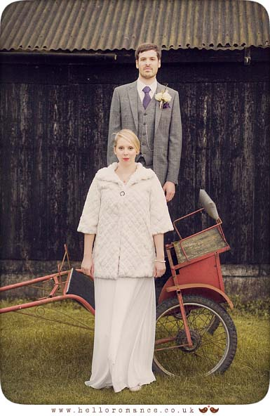 Vintage Bride and Groom - Hello Romance