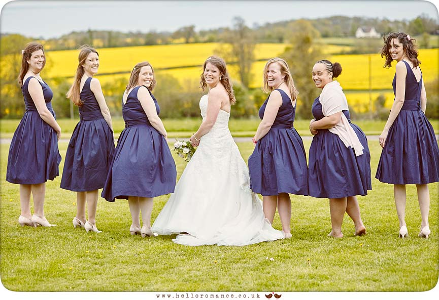 Fun photo of bridesmaids, Bury St Edmunds - www.helloromance.co.uk