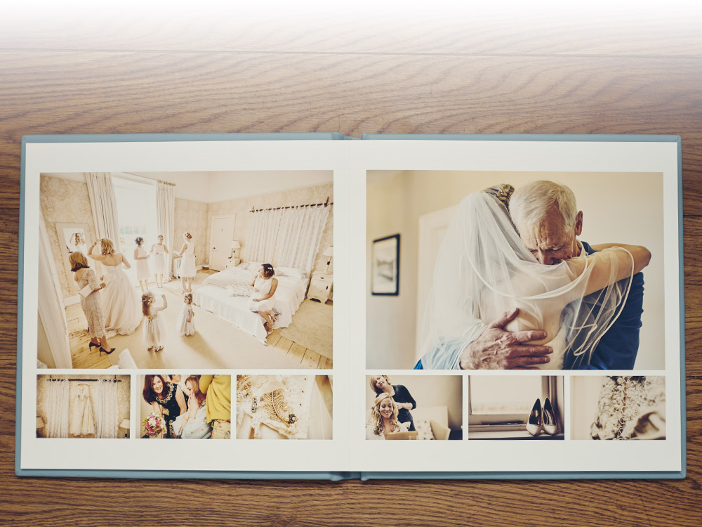 Folio album featured with The Romantic Wedding Photography Package